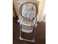 Chicco Polly 2-in-1 baby highchair great condition