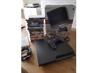 playstation 3 boxed with contoller and 20 games inc GTA5