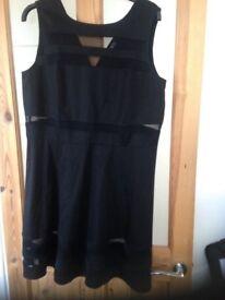 Black sleeveless dress size 20