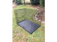 Extra large XL Dog/Puppy Cage. 42x28x30 inch. Folds flat for storage.