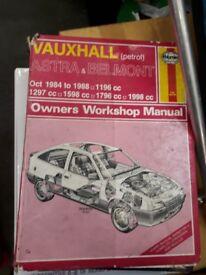 Haynes manual - Vauxhall Astra Belmont petrol