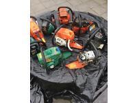 Chainsaw x9 parts lot spares repairs bodies engines etc Husqvarna Dolmar Qualcast chain saw Mower
