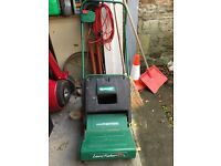 Qualcast electric lawn rake/scarifier