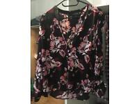 Black/floral top