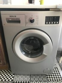 Servis Washing Machine. only 2 years old - as new, 6kg load. Silver. £100 no offers