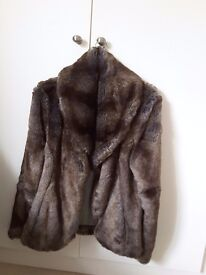 Faux fur brown coloured jacket by Jack Murphy Ladies Day Size 10