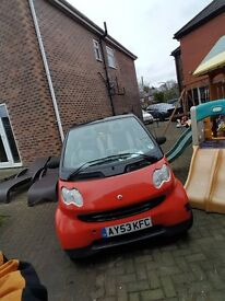 SMART CITY CONVERTIBLE £30 ROAD TAX CHEAP INSURANCE DRIVES VERY NICELY NEEDS ROOF REPAIR