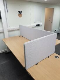Office desk dividers, various colours and sizes new and used