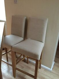 John lewis oak breakfast table and fabric chairs