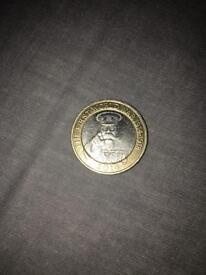 """Rare """"The First World War 1914-1918"""" £2 Coin."""