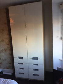 Used Wardrobes - Two high gloss contemporary wardrobes