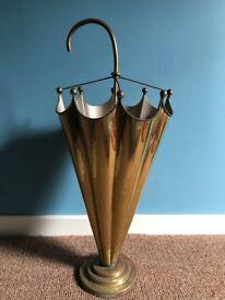 Vintage brass umbrella shaped umbrella stand