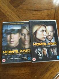 HOMELAND - Complete Sets Of Series 1 & 2 - 8 DVDs (24 Episodes)