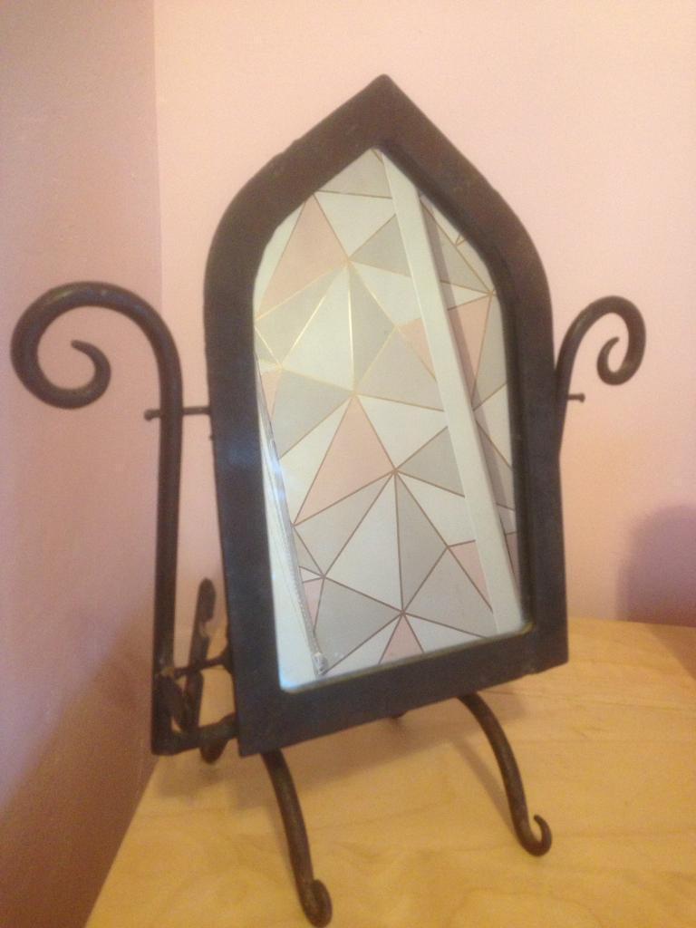Rustic vanity mirror