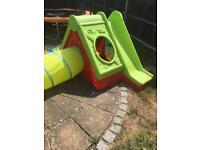 Children's slide & playhouse