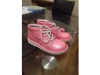 Brand new never worn pink patent kickers size 5. £50 ONO