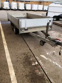 Anseem 3 ton trailer with drop sides and tailgate