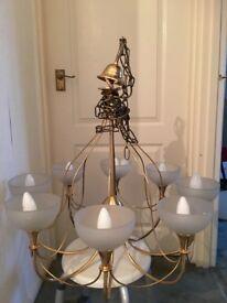 Vintage bronze 9 candle light chandelier