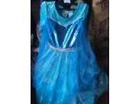 Elsa type Blue sequin party dress