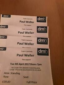 Paul Weller, 4 X standing, Leicester Tuesday 4th April