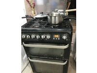 Hotpoint black gas job cooker freestanding 60cm £75