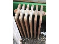 Vintage French Cast Iron Radiators! 9 in total various sizes!