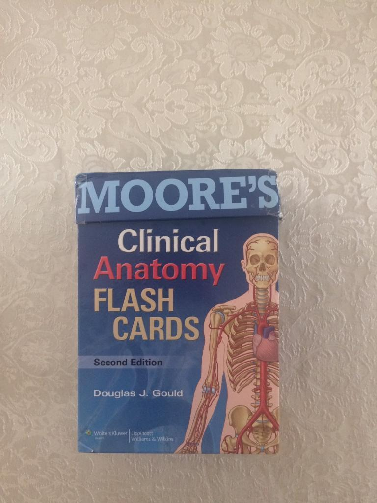 Moore\'s Clinical Anatomy Flash Cards | in Peasedown St John ...