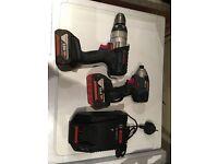 Bosch 18v twin kit impact drill combi drills Dewalt makita ryobi Milwaukee