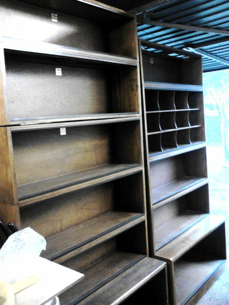Bookcases sectional simplexin GloucestershireGumtree - Two stacks of sectional bookcases. Bottom sections are both 14 inches deep x 18 1/2 inches high and 3feet wide 6x sections of 9 inches deep x 11 inches high on 1 stack and the other 1 has 3 x 9 inches deep x 11 inches high and a pigeon hole section 9...