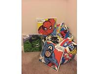 Batman beanbag & avenger canvases