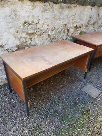 3 desks double pedestal - none