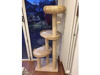 Cat scratch post tower