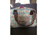 Flights of Fancy Pink lining changing bag