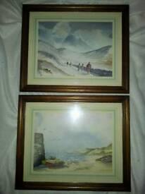 2 watercolours