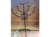 Wrought iron 5 candle holder / display
