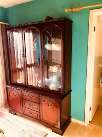 Display Cabinet with lights/sideboard
