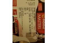Masters Snooker Semi Final Tickets x 2 (sat together)