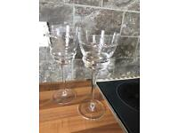Tyrone crystal wine goblets