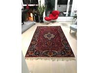 Oriental Rug Vintage Quality Elaborate Design 236 x 150cm (93 x 59 Inches)