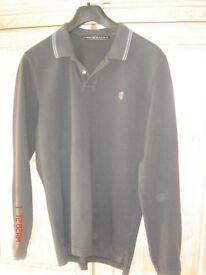 Pringle 1815 men's all cotton black long sleeved top