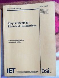 City & Guilds IET level 2, 3 Electrical installations text book.