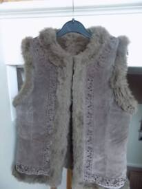 Ladies Suede Reversible Gilet - size small