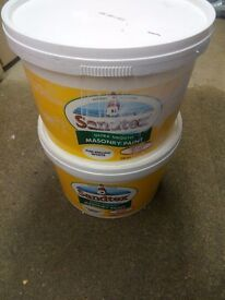 Sandtex Ultra-Smooth Masonry paint - brilliant white - approx 15 litres