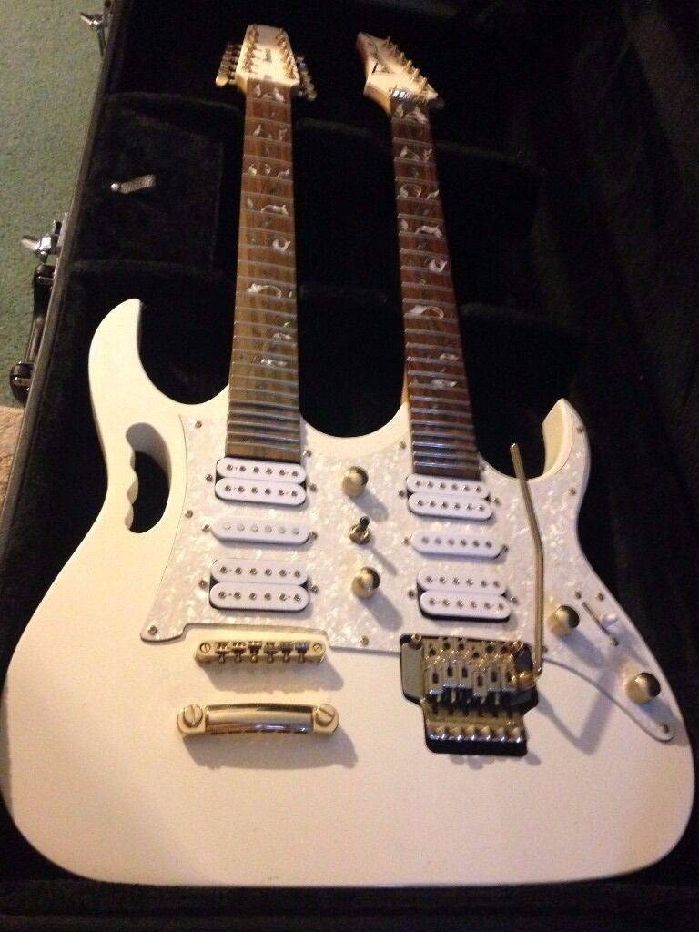 Ibanez Jem Replica Double Neck Guitar And Hardcase
