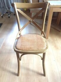 Pair of John Lewis birch wood chairs