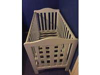 White cot with or without mattress