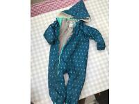 Muddy puddles waterproof 3 in 1 boiler suit / snow suit aged 2-3
