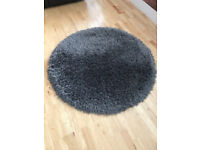 Circular Charcoal Rug