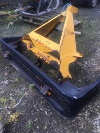 Tractor Yard scraper. Slurry