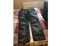 Triumph camouflage trousers size uk 40